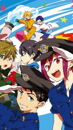 Free! -Eternal Summer- Nagisa, Rei, Makoto, Haruka, Sousuke and Rin
