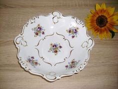 Porzellan Schale Schüssel mit Blumen und #Gold Muster Bedruckt PROFIN