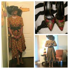 Sew Virtuous Designs The Handkerchief Dress! Check out the shoes! Handkerchief Dress, African Dress, Dress Fashion, High Low, Sewing, Check, Shoes, Dressmaking, Zapatos