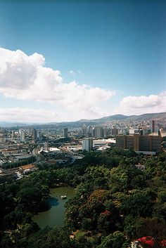Hillside view of Belo Horizonte in the state of Minas Gerais, Brazil. Known to the locals as Beagá (pronounced 'bay-ah-gah'), Belo Horizonte was named for its beautiful view of the nearby mountains. (V)