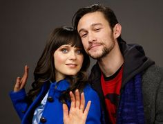 Joseph Gordon-Levitt on the idea of dating Zooey Deschanel: It's awkward when people say that. Whatever. Zooey and I just think it's funny. It is funny. We've been friends for 10 years. She loves movies, music and art, and she's incredibly knowledgeable about that stuff. She's turned me on to so many good movies and so much good music. It's fun just to have conversations, watch movies with her and stuff like that.