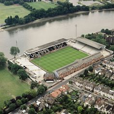 inch) Print (other products available) - CRAVEN COTTAGE, London. Aerial view of the home of Fulham FC since with the River Thames beyond. Photographed in Aerofilms Collection (see Links). - Image supplied by Historic England - Print made in Australia London Football, Fulham Fc, Fine Art Prints, Framed Prints, River Thames, Aerial View, Photographic Prints, London England, Poster Size Prints