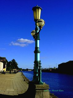 LAMP ON EXETER QUAY, Exeter, Devon, UK by Charmiene Maxwell-batten