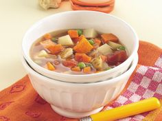 For a simple soothing supper, dish up bowlfuls of this colorful soup.