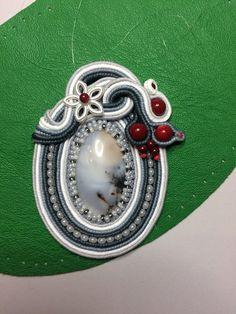 Photo Soutache Pendant, Soutache Jewelry, Wire Jewelry, Shibori, Beaded Embroidery, Wearable Art, Bracelet Watch, Pendants, Beads