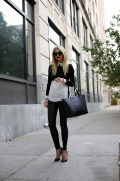 Atlantic-Pacific: cropped sweater + oxford