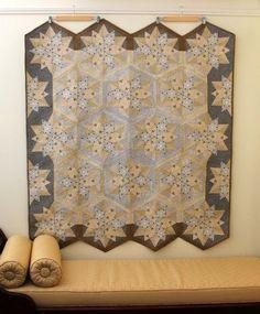 Pattern by Jaybird Quilts using Side Kick Ruler. Jaybird Quilts, Batik Quilts, Star Quilts, Bag Patterns To Sew, Quilt Patterns, Puzzle Quilt, Jay Bird, Hexagon Pattern, Craft Show Ideas
