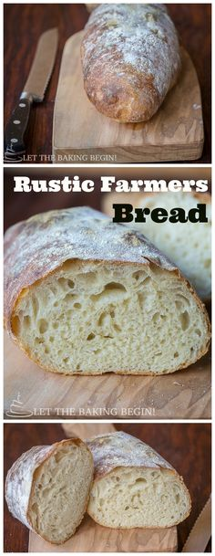 Rustic Farmer's Bread – Golden Crackly Crust with Chewy Crumb, a few basic…