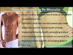 This video describe about how a skinny guy be muscular with muscle gainer supplements.