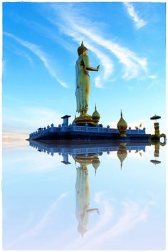 Buddha image in Hat Yai, Thailand.