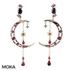 Star & Moon earrings @mokaboutiqueaustralia #moka #móka #mokaboutique #mokaaustralia #mokaboutiqueaustralia #jewlery #jewelry #jewellery #earings #earrings #statementearrings #fashion #style #blogger #boutique #boho #bohemian #bohochic #bohostyle #red