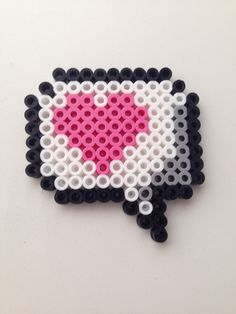 Speech bubble heart Hama beads