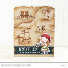 Welcome to Day 4 of the MFT June Release Countdown! Today I'm introducing my new stamp set & Die-namics, Party Like a Pirate ! Party Li...