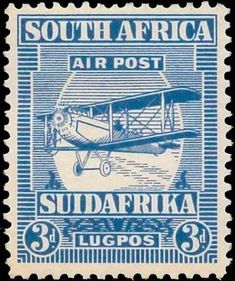 Forged stamps of South Africa - 1925 Airmails. Union Of South Africa, South Afrika, Vintage Stamps, British Colonial, African History, Stamp Collecting, Airmail, World, Prints