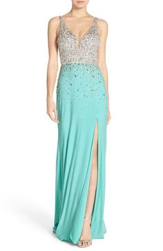 f0c7328889 Sean Collection Embellished Sleeveless Gown available at  Nordstrom Frozen  Fashion