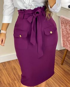 Fashion Fail, Girl Fashion, Fashion Tips, Modest Fashion, Fashion Dresses, African Print Fashion, Outfit Combinations, Work Attire, Skirt Outfits