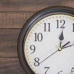 <p>Back when I showed you my laundry room makeover, I told you I would post a tutorial showing how I made the clock that hangs over the door. Well, that was two months ago, so here I am to make good on my word.</p>