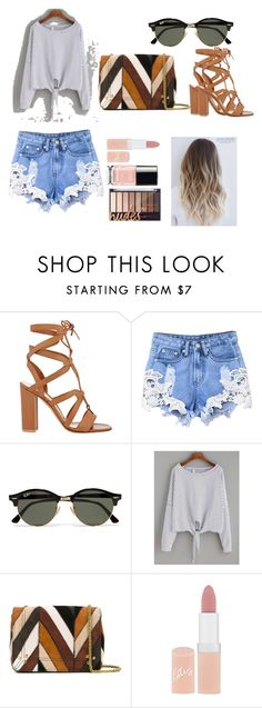 """""""Untitled #7"""" by lily-ngugi on Polyvore featuring Gianvito Rossi, Ray-Ban, Jérôme Dreyfuss and Rimmel"""