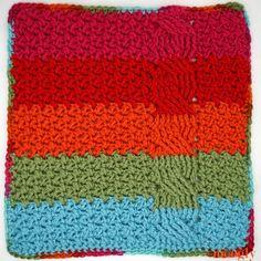 New Crochet Granny Square Blanket Pattern Red Hearts Ideas Crochet Squares Afghan, Crochet Square Patterns, Crochet Stitches Patterns, Crochet Granny, Stitch Patterns, Irish Crochet, Diy Crochet, Knitting Patterns, Crochet Afghans