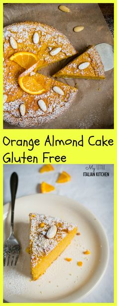 Flourless orange almond cake with 4 ingredients - gluten free