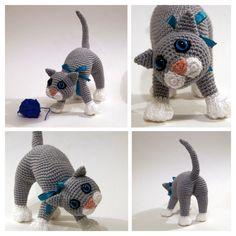 Crochet cat, crochet kitten, amigurumi cat - Playful Kitten, Amigurumi Pattern, Animal Crochet Pattern, Amigurumi kitten