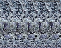 These images are known as autostereograms. Autotereograms are images that contain secret images. Are you skilled enough to pass this test? 3d Hidden Pictures, Magic Eye Pictures, Hidden Images, 3d Pictures, Amazing Optical Illusions, 3d Optical Illusions, Magic Eye Posters, 3d Stereograms, 3d Foto