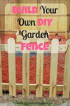 Keep animals and little ones out of your garden with this DIY 3-foot wood picket garden fence. It even has a 4-foot gate with a lock! Diy Privacy Fence, Diy Garden Fence, Backyard Fences, Raised Garden Beds, Backyard Landscaping, Garden Ideas, Fence Planters, Cheap Garden Fencing, Backyard Chickens
