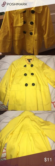 Lightweight Yellow Peacoat Jacket Adorable jacket. 97% cotton 3% spandex fully lined lightweight jacket perfect for spring. All buttons intact. Fits true to size. Grace Dane Lewis Jackets & Coats