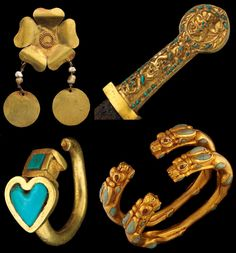 bactrian ancient turquoise jewelry - Google Search
