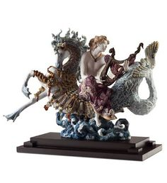 01001948  ARION ON A SEAHORSE   Issue Year: 2011  Sculptor: Francisco Polope  Size: 62x77 cm  Base included      Limited Edition 500 pieces