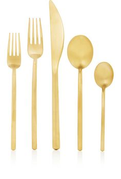 We Adore: The Due Ice Oro 5-piece Place Setting from Mepra at Barneys New York