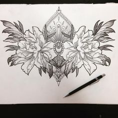 via Flowers.tn – Leading Flowers Magazine, Daily Beautiful flowers for all occasions Tagged: , flowers Chest Tattoo Drawings, Chest Piece Tattoos, Tattoo Design Drawings, Tattoo Sleeve Designs, Sleeve Tattoos, Lower Stomach Tattoos, Stomach Tattoos Women, Chest Tattoos For Women, Tribal Tattoos