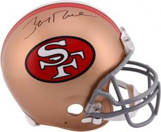 40386ee9ae9 Jerry Rice San Francisco 49ers Autographed Pro-Line Riddell Authentic  Throwback Helmet