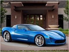 2012 Corvette Stingray.  I love the color on this car, and the body. Hooo boy I'd like to have one of these one day.