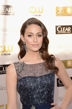Emmy Rossum... her hair her face her everything