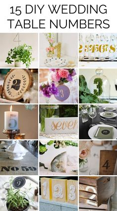 15 DIY Wedding Table