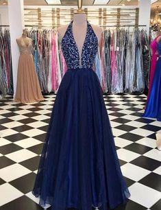 V Neck Tulle Sequins Long Prom Dress, Blue Evening Dresses Blue v neck tulle sequins long prom dress, blue evening dressesBlue v neck tulle sequins long prom dress, blue evening dresses Navy Blue Prom Dresses, V Neck Prom Dresses, Blue Evening Dresses, Cute Prom Dresses, Tulle Prom Dress, Cheap Bridesmaid Dresses, Grad Dresses, Dresses For Teens, Formal Dresses
