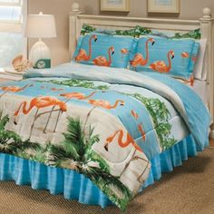 reciclandoenelatico.com Flamingo bed sheets!