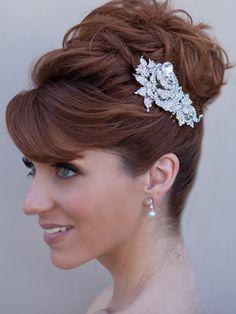 penteado casamento - noivas - wedding hair style by Hair Comes