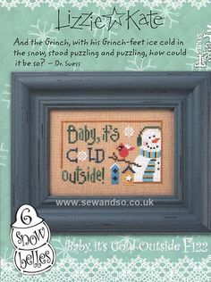 Buy Baby, It's Cold Outstide Flip It Chart with Button Online at www.sewandso.co.uk