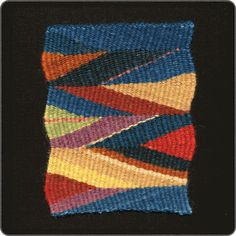 Michael Rohde love the colors Types Of Weaving, Weaving Art, Tapestry Weaving, Loom Weaving, Tapestry Wall Hanging, Textiles, Textile Prints, Textile Patterns, Textile Art