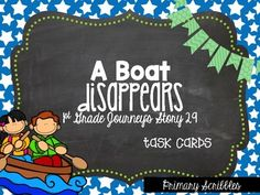 Journey's First Grade Lesson 29 A Boat Disappears Phonics And Vocab Task Cards Daily 5 Activities, Guided Reading Activities, Back To School Activities, Teaching Reading, Journeys First Grade, First Grade Lessons, Reading Comprehension Strategies, Common Core Ela, Literacy Stations