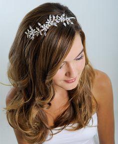 Bridal headband  Floral tiara  Rhinstone headband  by NaugiTiaras, $190.00