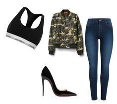 """""""Untitled #407"""" by happygirlavenue on Polyvore featuring Calvin Klein, Gap, Pieces and Christian Louboutin"""