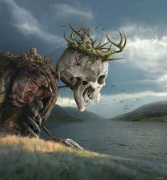 """Ancient King"" Art by Ayrat Adynaid on Tag a friend! Dark Fantasy Art, Fantasy Artwork, Fantasy Concept Art, Fantasy World, Dark Art, Arte Horror, Horror Art, Art Sinistre, King Art"