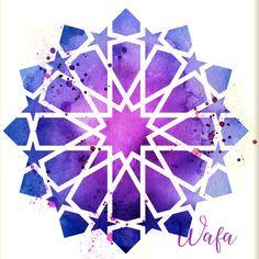 12 pointed star Islamic geometric pattern watercolor print   Etsy Islamic Art Pattern, Arabic Pattern, Pattern Art, Arabesque, Motifs Islamiques, Watercolor Pattern, Watercolor Print, Folk Art Flowers, Mandala Stencils