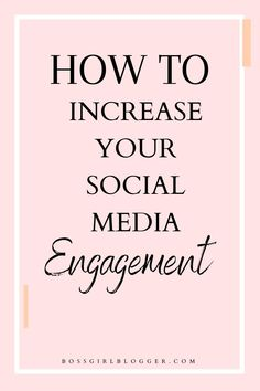 How to grow your social media engagement. Today I want to share all of my tips for each social media platform and give you ideas on how to grow engaged social accounts! Because in the end it's not the numbers that matter as much as the engagement! Social Media Marketing Business, Marketing Plan, Content Marketing, Affiliate Marketing, Online Business, Digital Marketing, Tips Instagram, Instagram Marketing Tips, Facebook Instagram