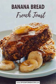 Use slices of banana bread for our Banana Bread French Toast recipe! We dredge ours in cornflakes which makes the slices come out with a nice golden crispy texture which is a nice contrast to the tender and soft interior. | breakfast ideas | mothers day brunch | french toast recipe | #recipe #breakfast #brunch #recipe #frenchtoast Banana Bread French Toast, Coconut Banana Bread, Best Banana Bread, Banana Bread Recipes, Banana Breakfast, Breakfast Toast, Savory Breakfast, Brunch Recipes, Breakfast Recipes