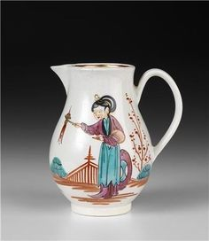 PHILIP CHRISTIAN FACTORY, Liverpool (attributed to) (manufacturer), England c.1765–76, Jug c.1770, porcelain (soft-paste). National Gallery of Victoria, Melbourne