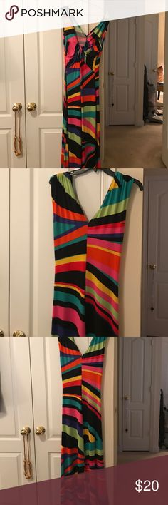 Colorful maxi dress Colorful sleeveless maxi dress. Aline fit, no side/leg slits Fashion to Figure Dresses Maxi